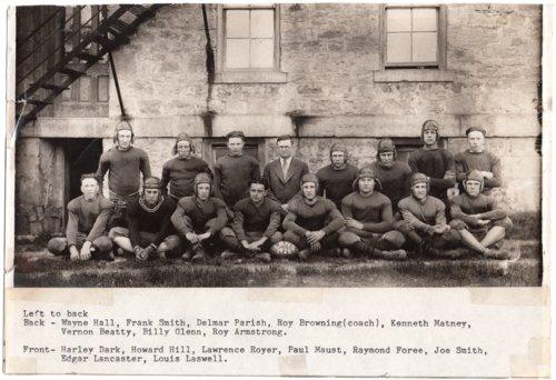 Lecompton Rural High School Football Team, 1926, Lecompton, Kansas - Page