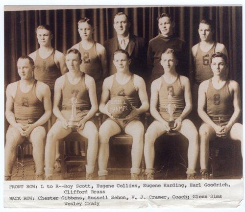 Lecompton High School Basketball Champs, 1935, Lecompton, Kansas - Page