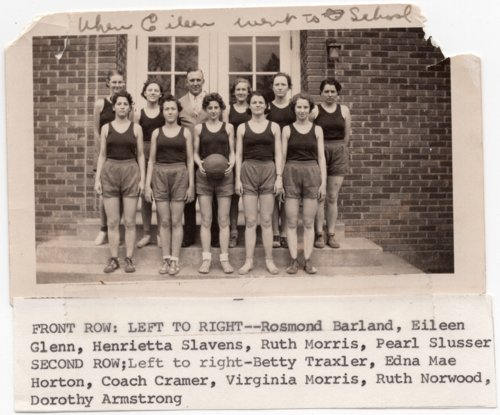 Lecompton High School Girls Basketball Team, Lecompton, Kansas - Page