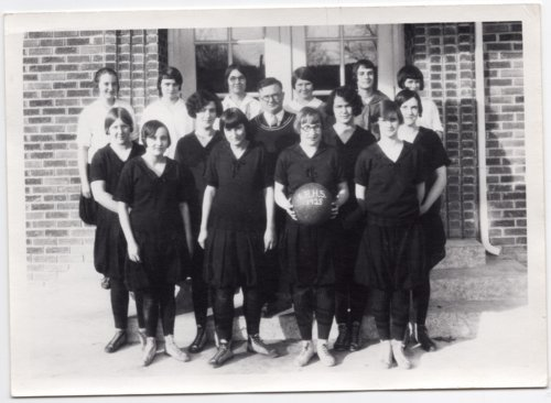 1928 Lecompton High School Girls Basketball team, Lecompton, Kansas - Page