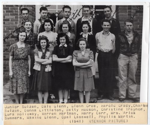 1941 Senior Class of Lecompton Rural High School, Lecompton, Kansas - Page