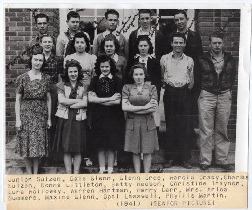 1941 Senior Class of Lecompton Rural High School, Lecompton, Kansas - Page