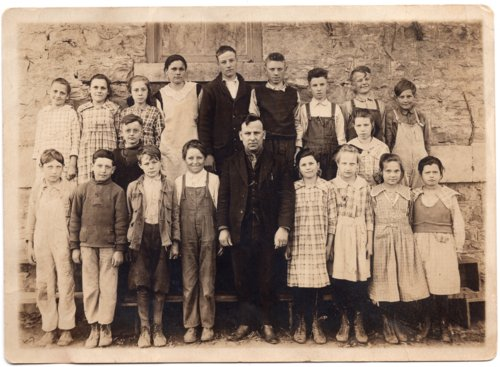 Lecompton School students and teacher, Lecompton, Kansas - Page