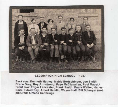 Lecompton High School, Class of 1927, Lecompton, Kansas - Page