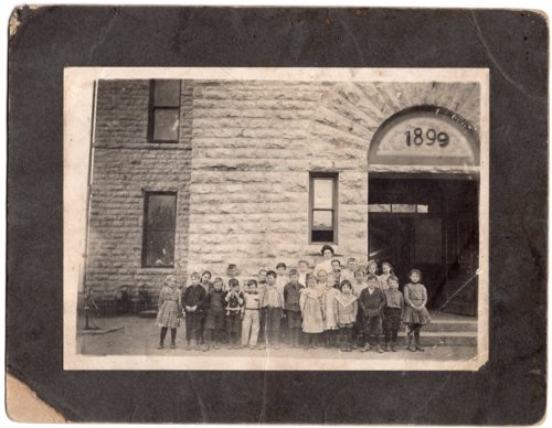 Early 1900's Lecompton Elementary Students photograph, Lecompton, Kansas - Page