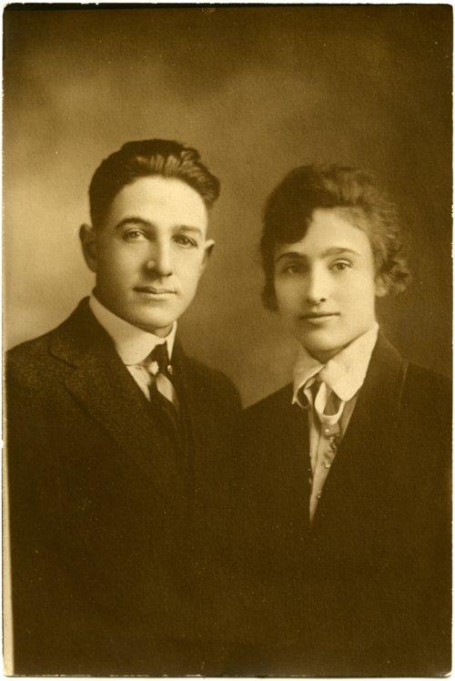 Studio portrait of Basil Stella and Laura Palenske Stella - Page