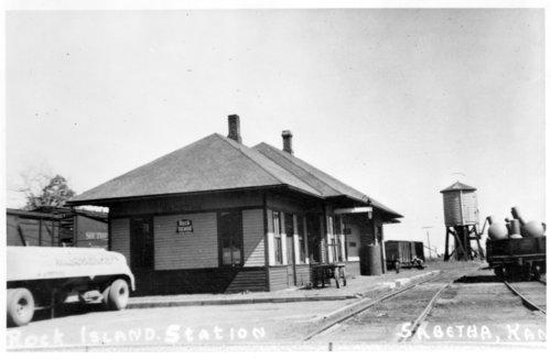 Chicago, Rock Island & Pacific Railroad depot Sabetha, Kansas - Page