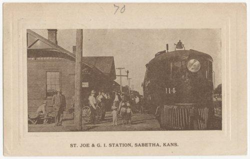St. Joseph & Grand Island Railway depot, Sabetha, Kansas - Page
