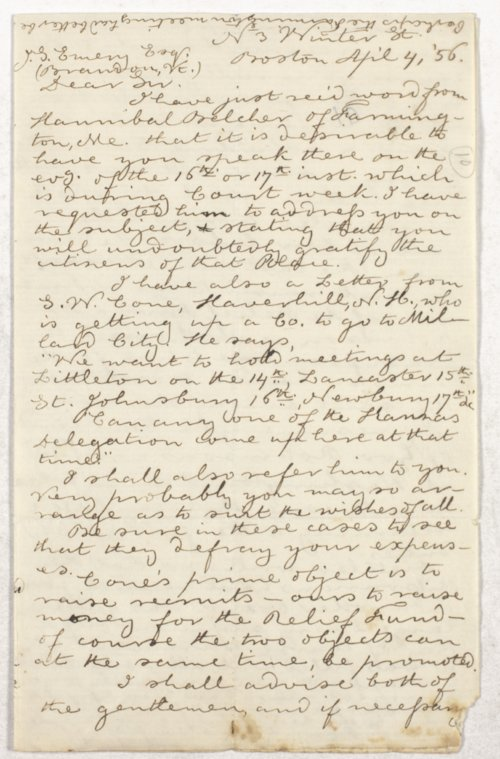 James Stanley Emery correspondence - Page