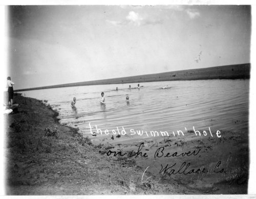 Children swimming in Beaver Creek, Wallace County, Kansas - Page