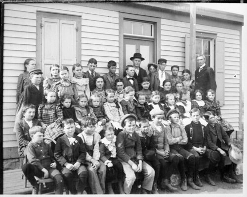 Class photo, rural school, Wallace County, Kansas - Page