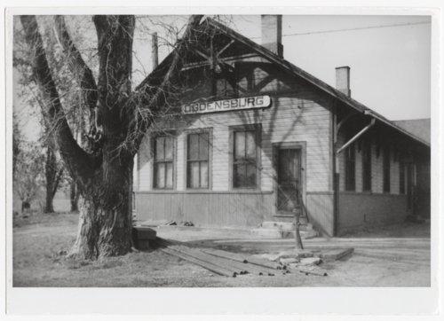 Union Pacific Railroad Company depot, Ogden, (Ogdensburg),Kansas - Page