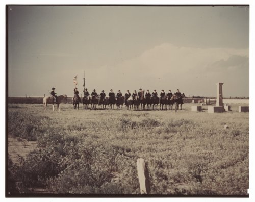 7th Cavalry reenactment, United States government cemetery, Fort Wallace, Kansas - Page