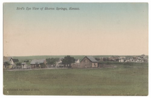 Bird's eye view of Sharon Springs, Wallace County, Kansas - Page