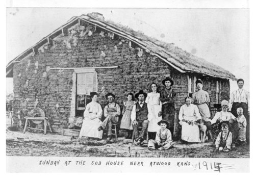 Sunday at the sod house near Atwood, Rawlins County, Kansas - Page