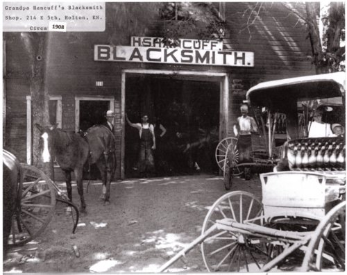 Henry Smith Hancuff's blacksmith shop in Holton, Kansas - Page