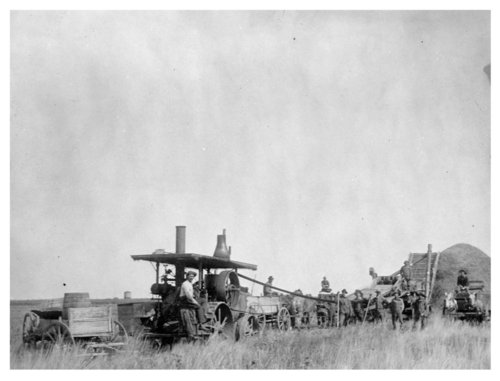 Bretz threshing crew, Lane County, Kansas - Page