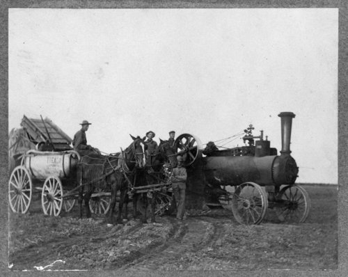 Ford Brown threshing crew, wheat harvest, Lane County, Kansas - Page