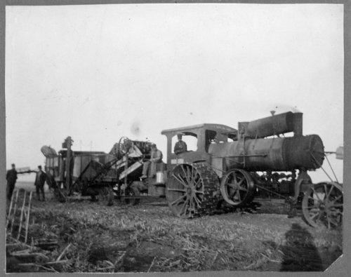 Ford Brown threshing crew, Lane County, Kansas - Page