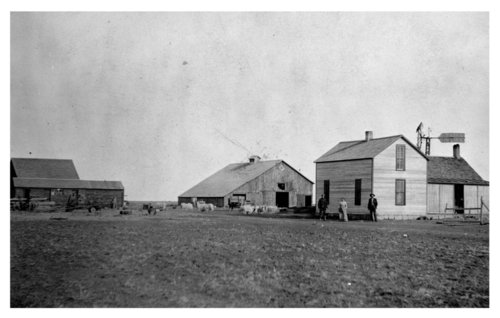 Charlie Bretz farmstead, southwest of Shields, Lane County, Kansas - Page