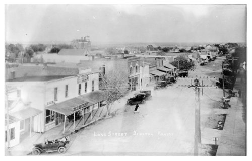 Aerial view of Long Street, Dighton, Lane County, Kansas - Page