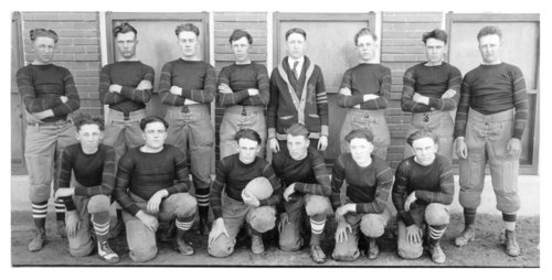 First football team at Dighton High School, Dighton, Lane County, Kansas - Page