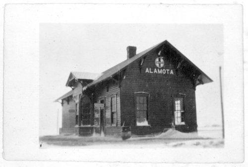 Atchison, Topeka & Santa Fe Railway Company depot, Alamota,Kansas - Page
