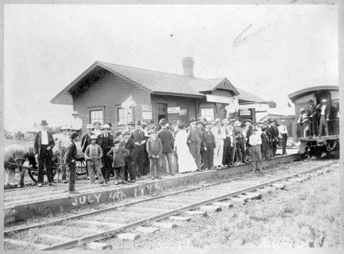 Atchison, Topeka and Santa Fe Railway Company depot, Hamilton, Kansas - Page
