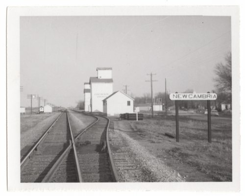 Union Pacific Railroad Company's sign board, New Cambria, Kansas - Page
