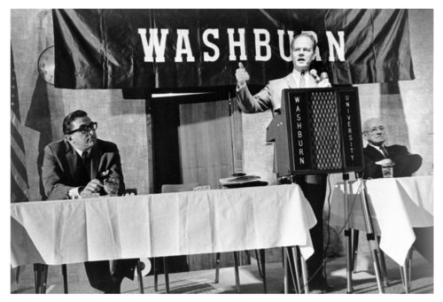 Paul Harvey speaking at Washburn University, Topeka, Kansas - Page