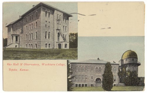 Rice Hall and Crane Observatory, Washburn University, Topeka, Kansas - Page