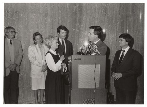 Governor John Carlin and Lt. Governor Tom Docking on their last day in office - Page