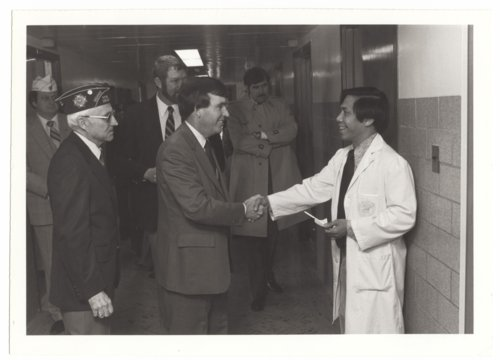 Governor John Carlin visiting the Veterans Administration Medical Center in Topeka, Kansas - Page