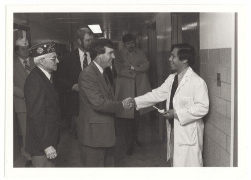 Governor John Carlin visiting the Veterans Administration Medical Center in Topeka, Kansas - Page