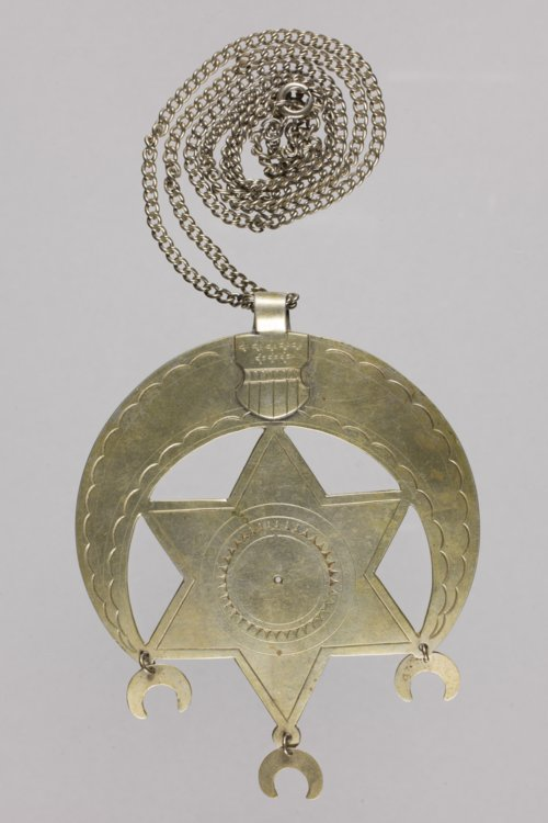 German Silver Star and Crescent Pendant - Page