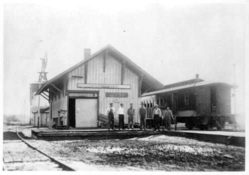 Leavenworth, Kansas & Western Railroad Company depot, Miltonvale, Kansas - Page