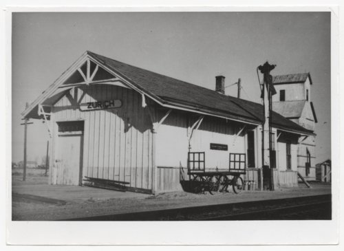 Union Pacific Railroad Company depot, Zurich, Kansas - Page