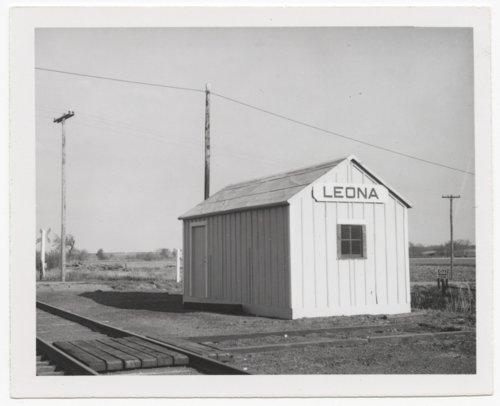 Union Pacific Railroad Company's box depot, Leona, Kansas - Page