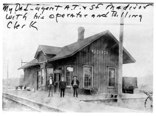 Atchison, Topeka & Santa Fe Railway Company depot, Madison, Kansas - Page