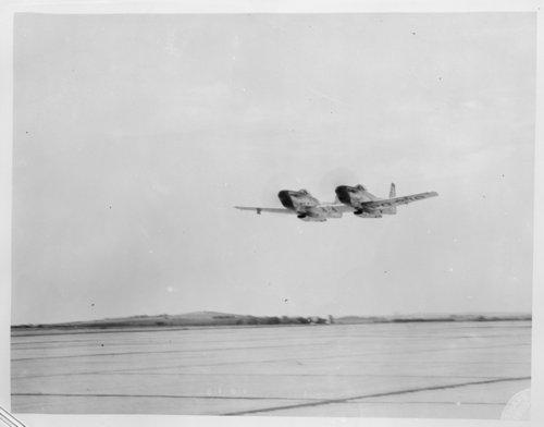 Twin-fuselage aircraft, Smoky Hill Army Air Force Base, Salina, Kansas - Page