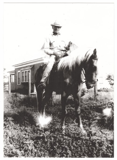 Claude Ryan on his horse in Brownell, Kansas - Page