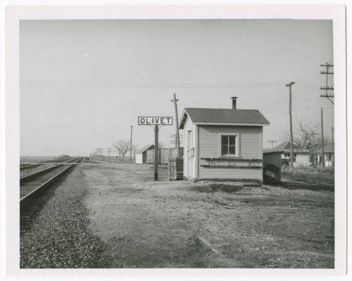 Atchison, Topeka & Santa Fe Railway Company's box depot, Olivet, Kansas - Page