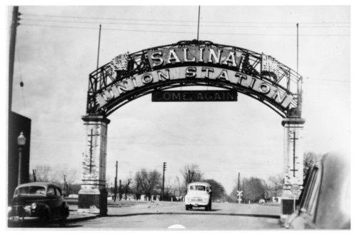 Welcome Arch, Union Station, Salina, Kansas - Page