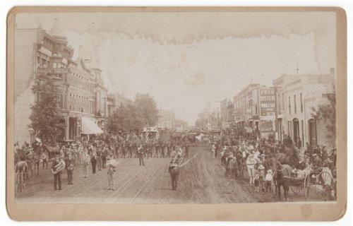 Parade scene possibly in Salina, Kansas - Page