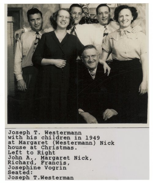 Joseph Thomas Westermann's family - Page