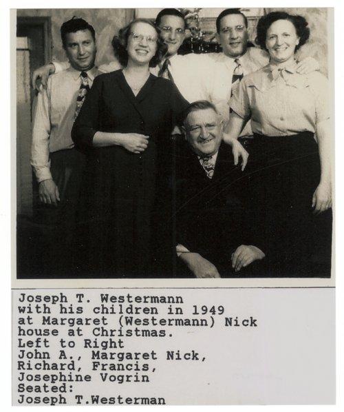 Joseph Thomas Westermann's family - Page