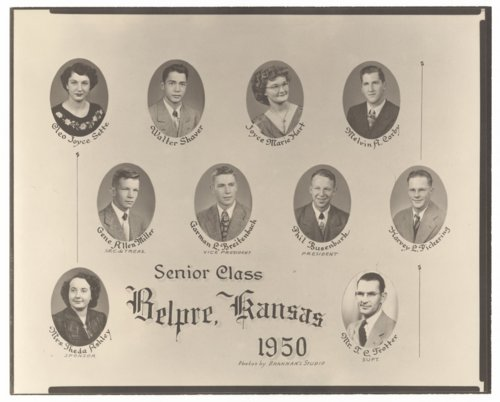 High school senior class, Belpre, Kansas - Page