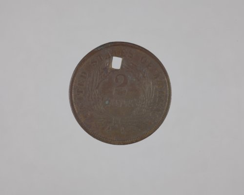 Two-Cent Coin from the Shawnee Indian Mission, 14JO362 - Page