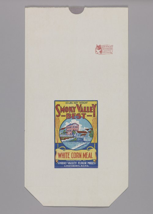 Smoky Valley Flour Mills corn meal bag - Page