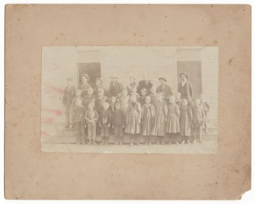 Students and teachers at Williams School, District 17, Marion County, Kansas - Page